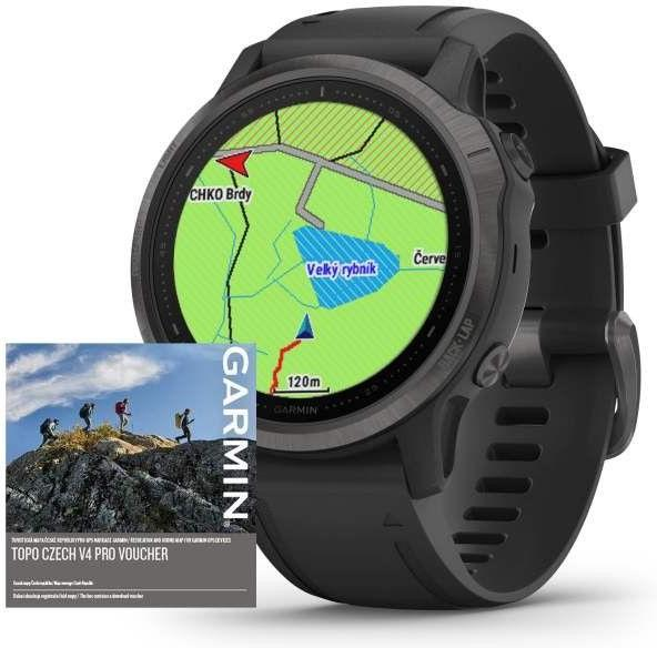 Orologi Garmin Garmin fenix6S PRO Sapphire Gray/Black Band (MAP/Music)