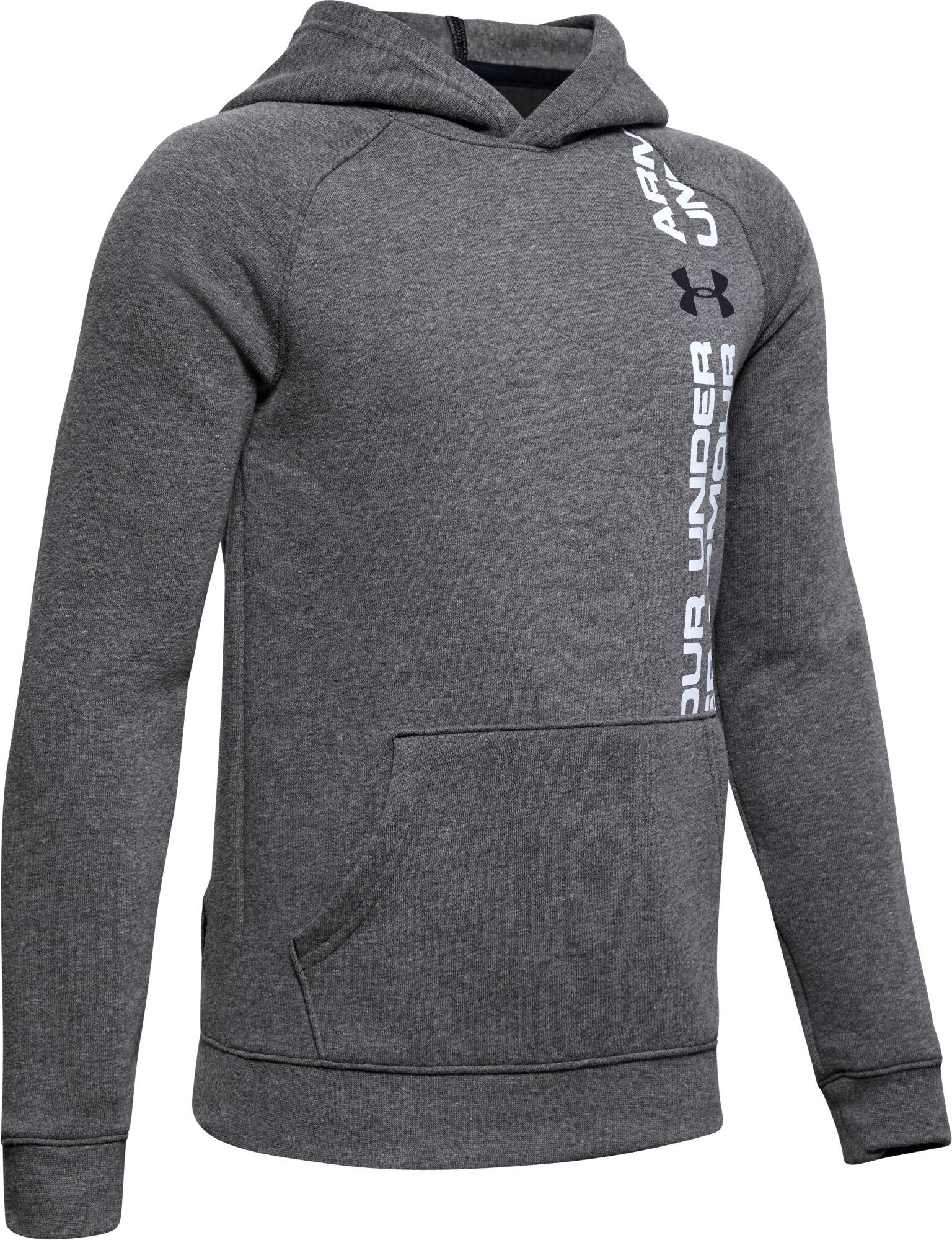 Felpe con cappuccio Under Armour Rival Wordmark Hoody Y