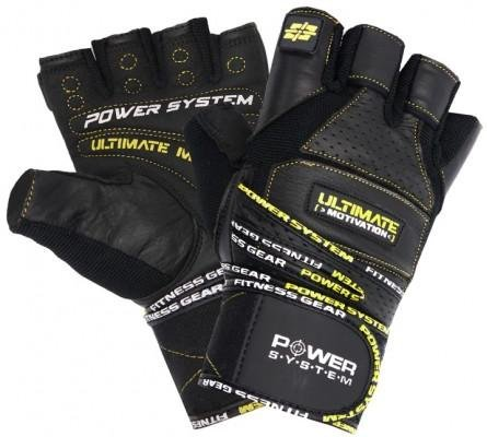 Guanti Power System POWER SYSTEM-GLOVES ULTIMATE MOTIVATION-YELLOW